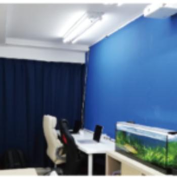 生徒同士の話し合いや、プレゼンテーションの練習などにこの部屋を利用します。